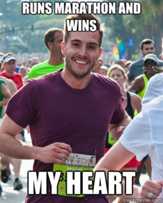 Ridiculously photogenic guy was just running a race when he got captured in a photo. Who smiles like that while running?