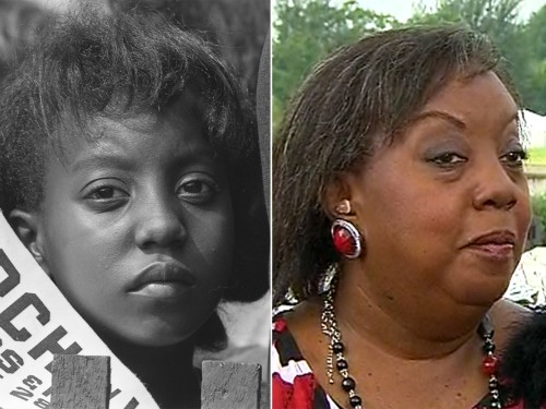 Edith Lee-Payne, who appeared in an iconic photo (left), spoke to Al Roker Wednesday about her experience at the march.