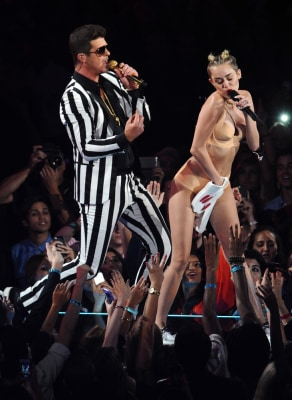 Image: Robin Thicke and Miley Cyrus