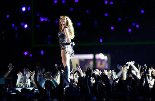 Beyoncé and Destiny's Child perform during the half-time show of the NFL Super Bowl XLVII football game in New Orleans, Louisiana, in this February 3,...
