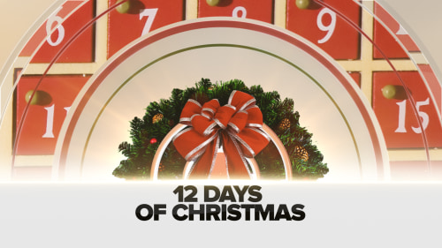 Elizabeth Mayhew is bringing TODAY viewers great discounts on gifts for the 12 Days of Christmas — at least one deal a day throughout the holiday season. As of now, the next airing will be Friday, Dec. 6.