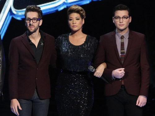 Image: Will Champlin, Tessanne Chin and James Wolpert on The Voice.