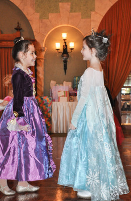 Image: Little girls at princess party
