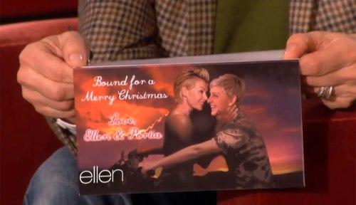 Ellen DeGeneres' Christmas card