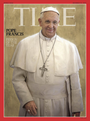 Pope Francis was chosen by the magazine for his impact on the world and news in 2013.