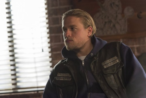 "Charlie Hunnam plays Jax Teller on ""Sons of Anarchy."""