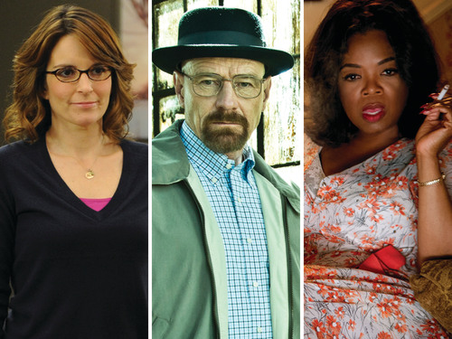 Image: Tina Fey, Bryan Cranston and Oprah Winfrey.