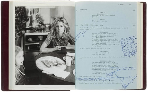 "Farrah Fawcett's script for ""The Burning Bed"" was one of the late actress's belongings put up for auction by her nephew."
