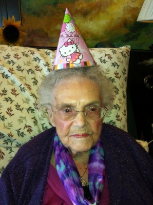 104-year-old Marguerite Joseph in an undated family photo. Joseph uses Facebook with help from Gail Marlow, her granddaughter.