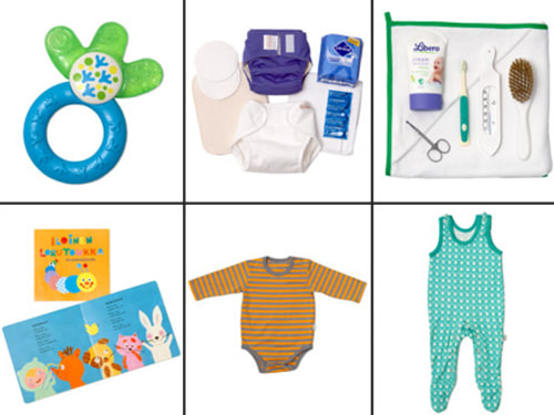 Some of the baby products included in the maternity gift box that the Finish government sent to the Duke and Duchess of Cambridge.