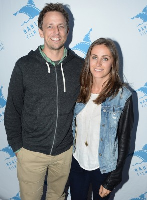 Image: Seth Meyers and Alexi Ashe