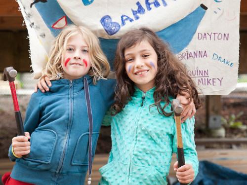 Girls at summer camp