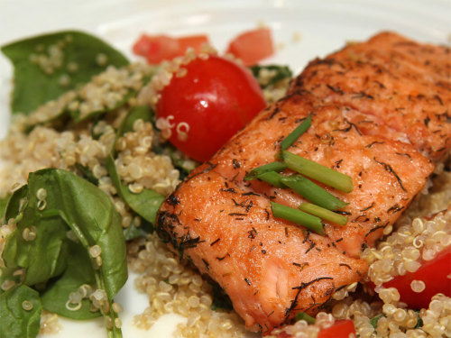 A winning recipe, Inga Binga's Salmon Salad.