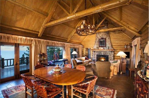 Hughes' vacation home was designed in the 1920s by New York lawyer and 12th governor of Nevada, Tasker Oddie. The home was built with timber from the land.