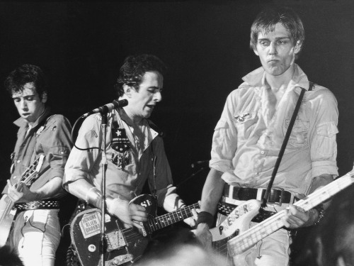 Image: From left to right, Mick Jones, Joe Strummer and Paul Simonon of punk rock band The Clash, circa 1980. (Photo by Hulton Archive/Getty Images)