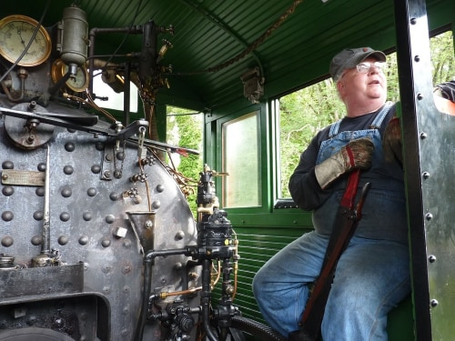 Mount Rainier Scenic Railroad's engines pull passengers on cars along seven miles of reclaimed track.