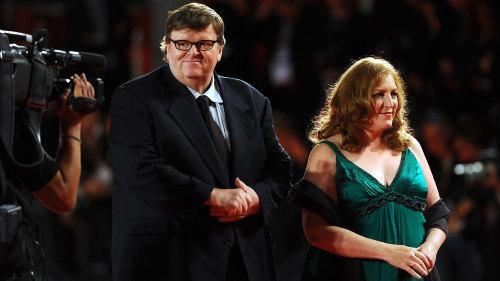 Michael Moore and Kathleen Glynn in 2009.