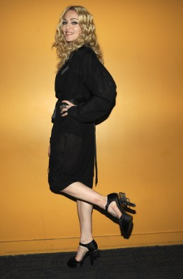 Madonna appeared at a 2008 film screening in Chanel pistol-shaped heels.