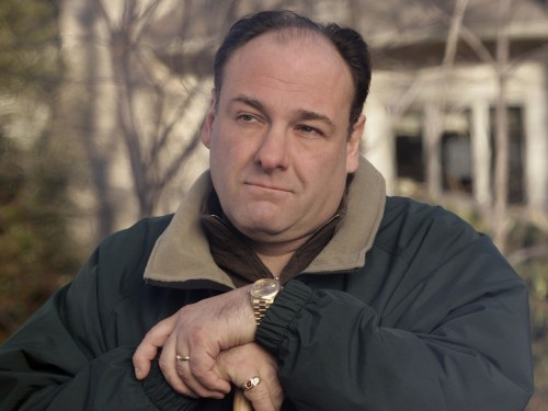 FILE - This file photo released by HBO in 2007 shows James Gandolfini as Tony Soprano in a scene from one of the last episodes of the HBO dramatic ser...