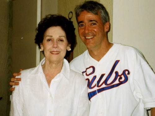 Simon and his beloved mom, Patricia, who passed away Monday night.
