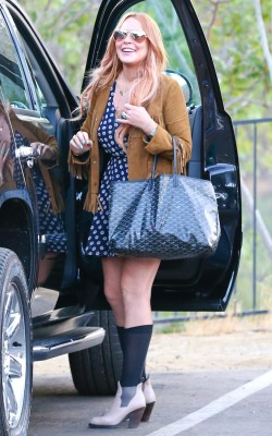 Lindsay Lohan departs Cliffside Malibu Rehab Center on July 30, 2013.