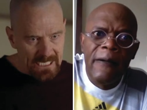 Bryan Cranston originated the character of Walter White but Samuel L. Jackson gives it a go.