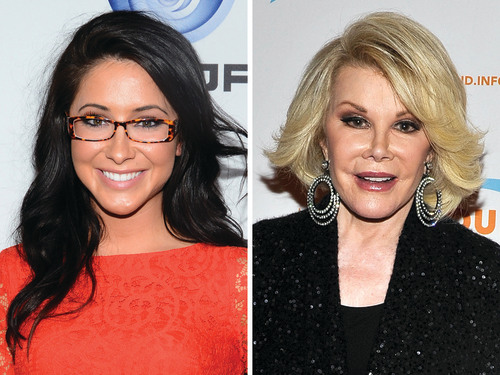 "Bristol Palin and Joan Rivers are swapping families on ""Celebrity Wife Swap."""