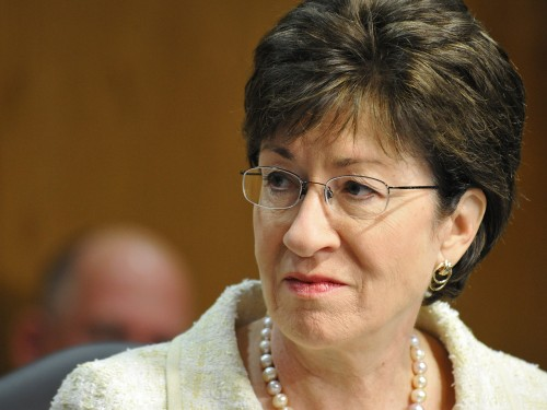 """Sen. Susan Collins, R-Maine, said that while women in the Senate span the ideological spectrum, they tend to be """"more collaborative, less concerned about scoring partisan political points and more focused on getting a solution."""""""