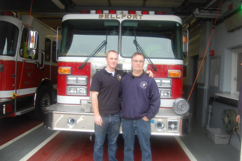Frank and Tyler Furia are both volunteer firefighters