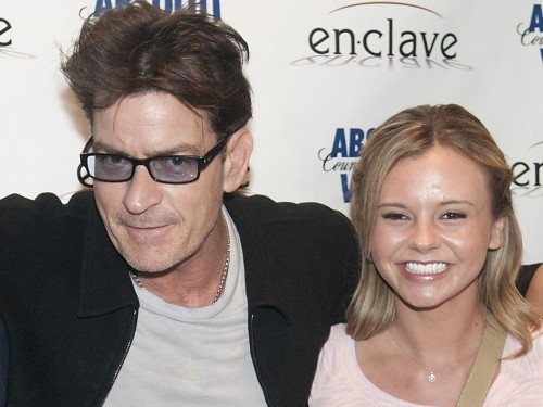 Charlie Sheen with then-goddess Bree Olson