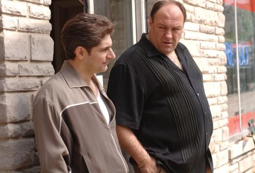 "Image: Michael Imperioli and James Gandolfini  appear in ""The Sopranos."""