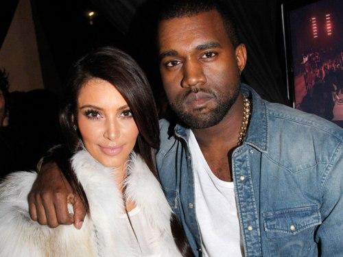 Image: Kim Kardashian and Kanye West
