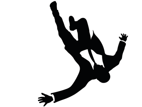 """Falling man from opening of AMC's """"Mad Men."""""""