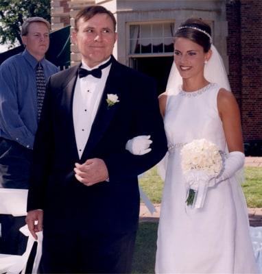 Natalie on her wedding day.