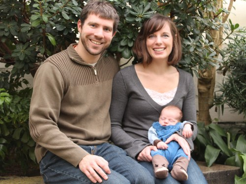 The Doud family: Brian, Kristen and Leo Doud, 3 months.