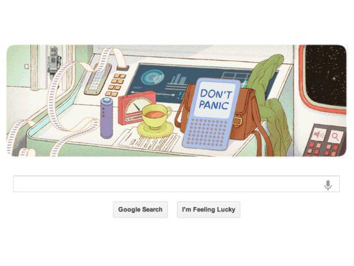 Google Doodle Douglas Adams