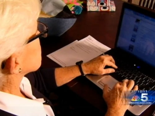 NBC Chicago video of grandmother on laptop