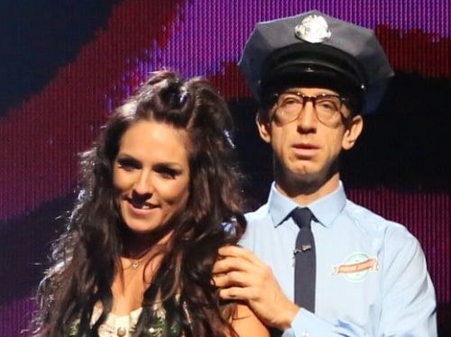 The quest for ballroom glory ended for Andy Dick and pro partner Sharna Burgess on Tuesday.