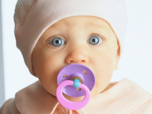 baby. pacifier, big eyes, child, looking,