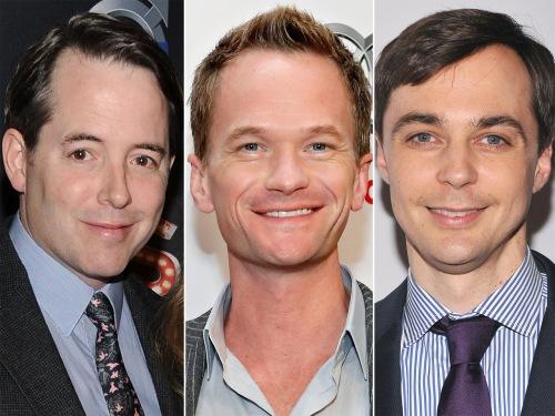 Matthew Broderick, Neil Patrick Harris, Jim Parsons.