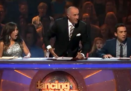 'Dancing With the Stars' judge Len Goodman loses his cool.