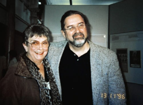 Image: Margaret Groening and Matt Groening