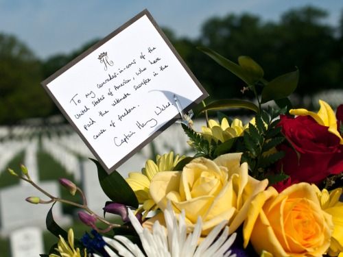Prince Harry's handwritten message to fallen U.S. military.