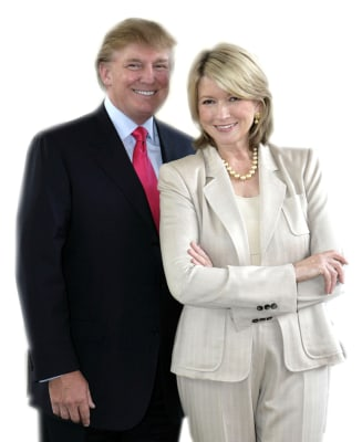 Donald Trump, Martha Stewart.