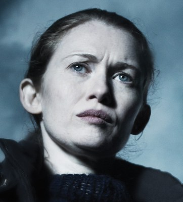 """Sarah Linden (Mireille Enos) from """"The Killing."""""""