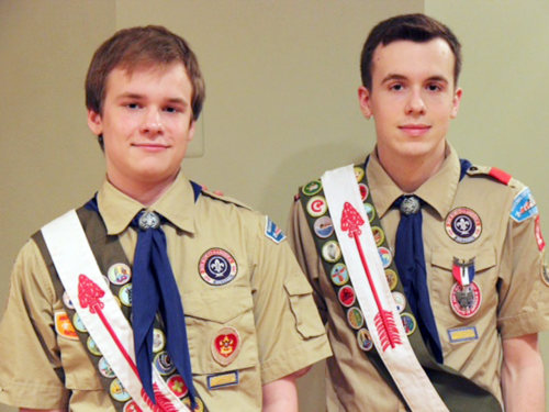 Lucien and Pascal as Boy Scouts