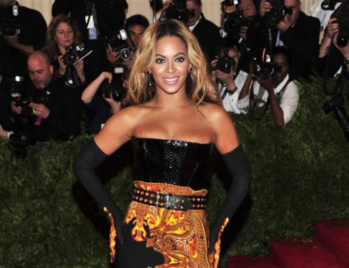 Beyonce at The Metropolitan Museum of Art's Costume Institute benefit.