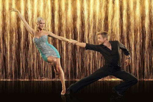 "Kellie Pickler and her ""Dancing With the Stars"" pro partner, Derek Hough."