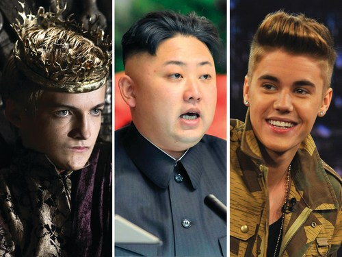 Image: Joffrey, Kim Jong-un, Justin Bieber