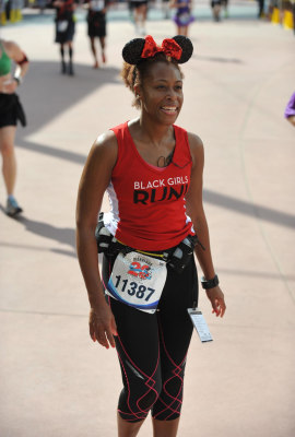 Black Girls RUN! co-founder Toni Carey runs the Disney Marathon in February.